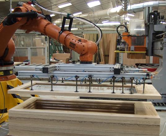 Robot préhenseur pour palettisation de portes